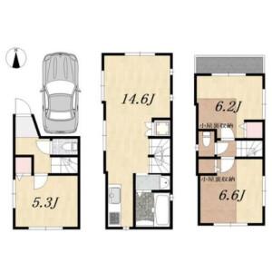 2LDK {building type} in Takadanobaba - Shinjuku-ku Floorplan