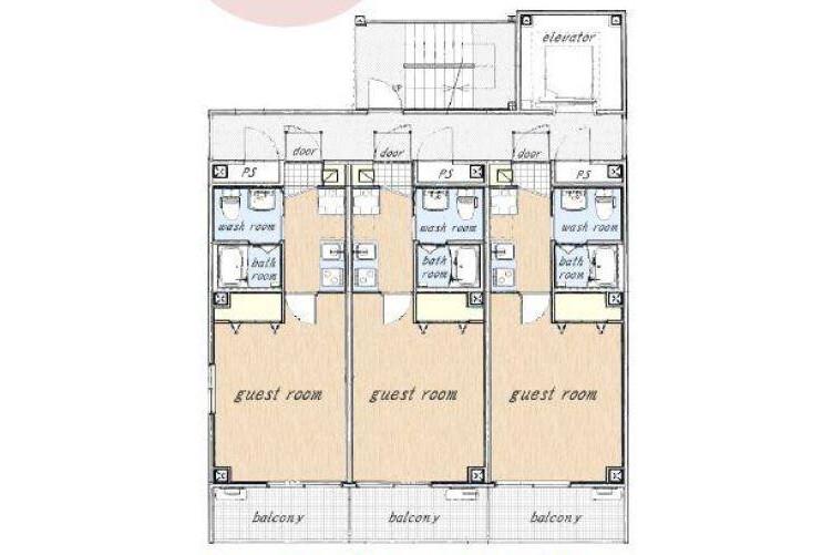 Whole Building Hotel/Ryokan to Buy in Kyoto-shi Nakagyo-ku Floorplan