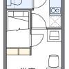 在船橋市內租賃1K 公寓 的房產 房間格局