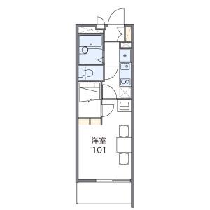 船橋市習志野-1K公寓 房間格局