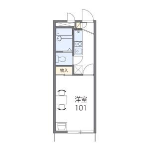 1K Apartment in Minamidenen - Fussa-shi Floorplan