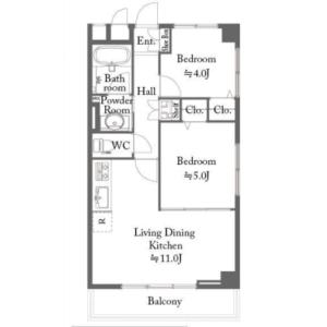 2LDK {building type} in Ukima - Kita-ku Floorplan