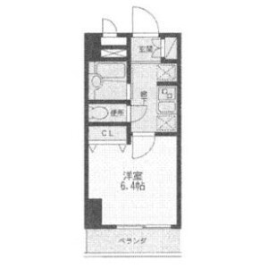 1K Mansion in Ogibashi - Koto-ku Floorplan