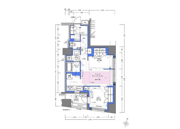 2LDK Apartment to Rent in Chiyoda-ku Floorplan