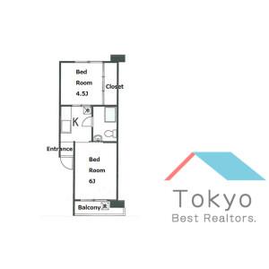 2K Mansion in Hyakunincho - Shinjuku-ku Floorplan