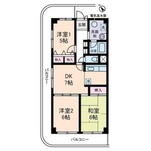 豊島區上池袋-3DK公寓大廈 房間格局