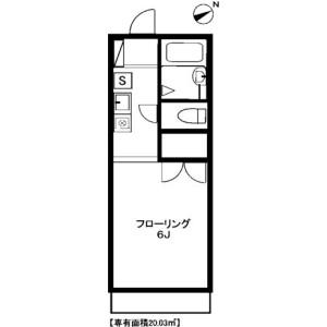 1K Apartment in Sekimachiminami - Nerima-ku Floorplan
