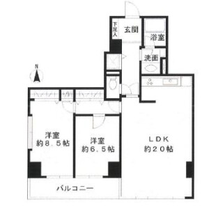 2LDK Mansion in Haramachi - Shinjuku-ku Floorplan