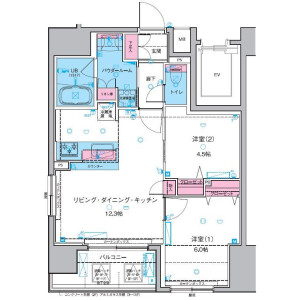 2LDK Mansion in Senzoku - Taito-ku Floorplan