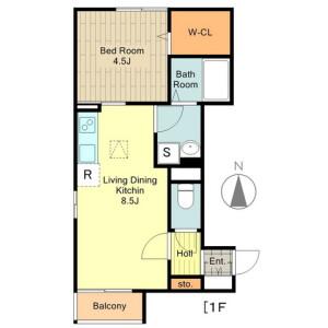 立川市柴崎町-1LDK公寓 房間格局