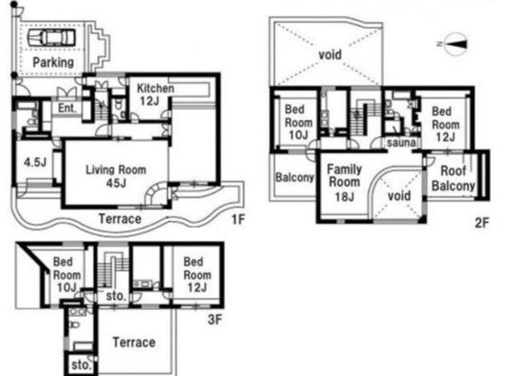5SLDK Terrace house to Rent in Shinagawa-ku Floorplan