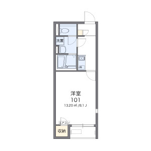1K Apartment in Higashinaka - Fukuoka-shi Hakata-ku Floorplan
