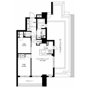 2LDK Mansion in Kasugacho - Nerima-ku Floorplan