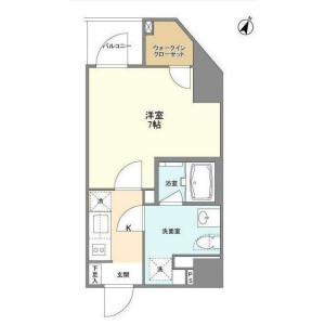 港區東麻布-1K公寓大廈 房間格局