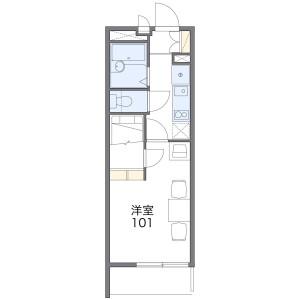 1K Mansion in Hatanaka - Niiza-shi Floorplan