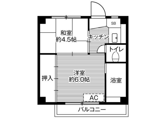 2K Apartment to Rent in Kawagoe-shi Floorplan