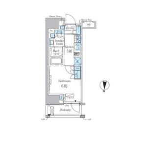 墨田區江東橋-1K公寓大廈 房間格局