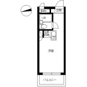 1R Mansion in Hoshikawa - Yokohama-shi Hodogaya-ku Floorplan