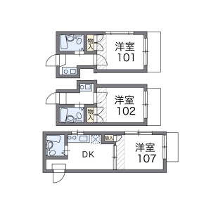 1K Apartment in Hatanodai - Shinagawa-ku Floorplan