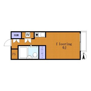 1R Apartment in Daita - Setagaya-ku Floorplan