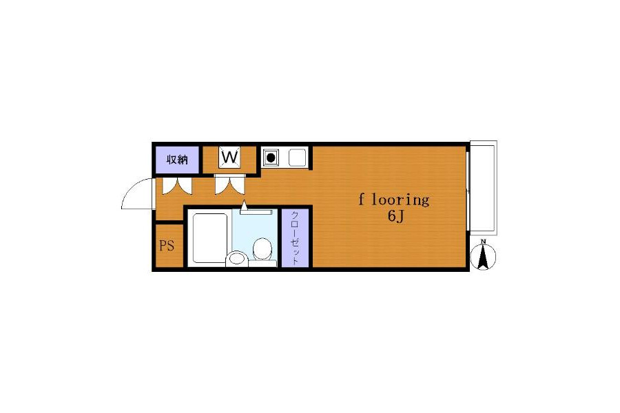 1R Apartment to Rent in Setagaya-ku Floorplan