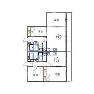 2DK Mansion in Higashihara - Zama-shi Floorplan