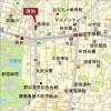 在新宿区内租赁3LDK 公寓大厦 的 地图
