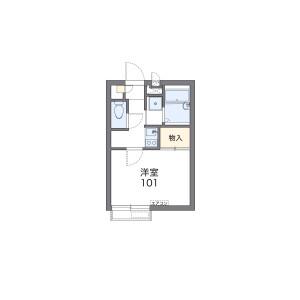 1K Apartment in Uenocho - Yokohama-shi Naka-ku Floorplan