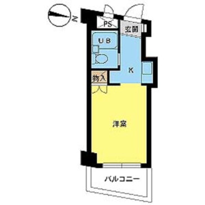 1R Mansion in Nishiaoki - Kawaguchi-shi Floorplan
