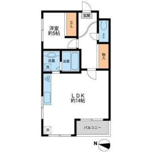 1LDK Mansion in Ookayama - Meguro-ku Floorplan
