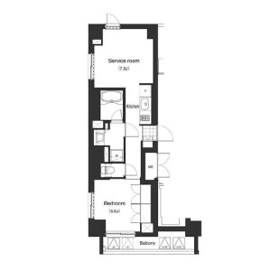 2K Mansion in Minamiazabu - Minato-ku Floorplan