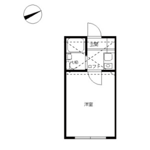杉並区成田東-1R公寓 楼层布局