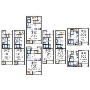 1K Apartment in Sangenjaya - Setagaya-ku Floorplan