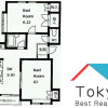 2DK Apartment to Rent in Shibuya-ku Floorplan