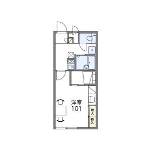 1K Apartment in Haruda - Chikushino-shi Floorplan