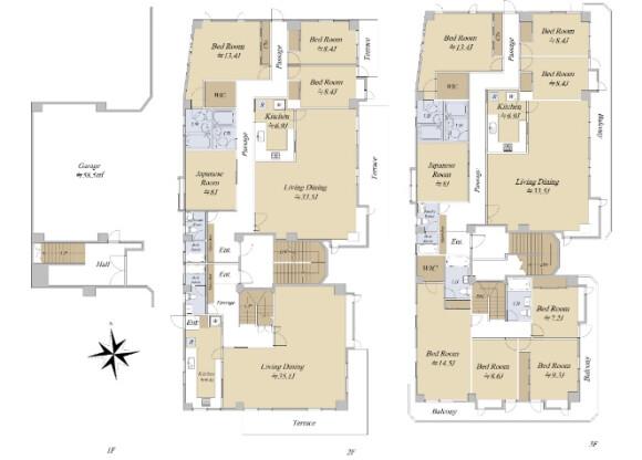 Whole Building Apartment to Buy in Ota-ku Floorplan