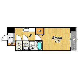 1K Apartment in Jusohigashi - Osaka-shi Yodogawa-ku Floorplan