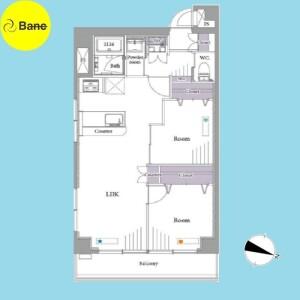 2LDK {building type} in Honcho - Nakano-ku Floorplan