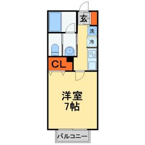 1K Apartment in Sakasai - Kashiwa-shi Floorplan