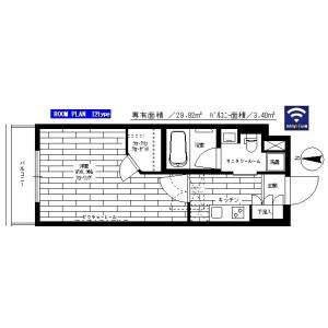 1K Mansion in Honcho - Nakano-ku Floorplan