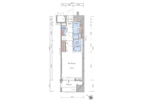 1K Apartment to Buy in Toshima-ku Floorplan