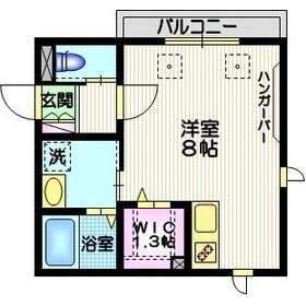 港区白金台-1R公寓 楼层布局