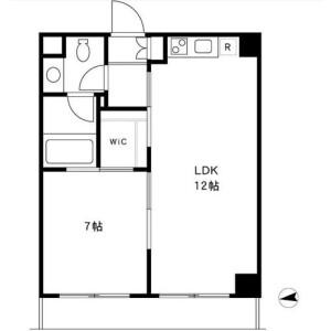 1LDK Mansion in Funamachi - Shinjuku-ku Floorplan