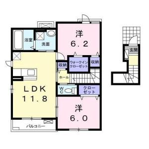 2LDK Apartment in Sakuragaoka - Setagaya-ku Floorplan