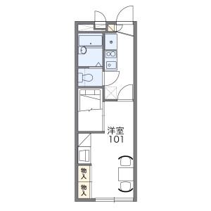 1K Apartment in Akabanekita - Kita-ku Floorplan