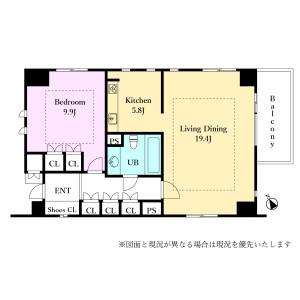 港区 南青山 1LDK {building type} 間取り