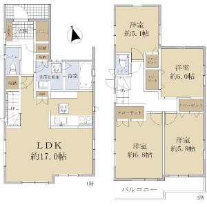 4LDK {building type} in Hiyoshi - Yokohama-shi Kohoku-ku Floorplan
