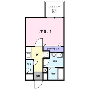 1K Mansion in Denenchofu honcho - Ota-ku Floorplan