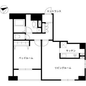 品川區西五反田-1LDK公寓大廈 房間格局
