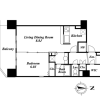 1LDK Apartment to Rent in Ota-ku Floorplan